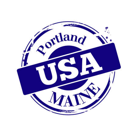 stamp Portland Stock Vector - 17353175
