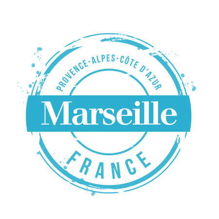 stamp Marseille Stock Vector - 17353182