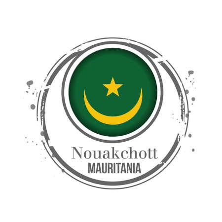 atlantic city: stamp Mauritania Illustration