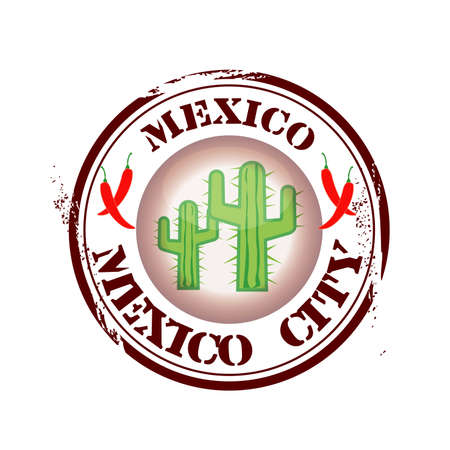 stamp Mexico City Vector