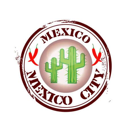 mexico city: stamp Mexico City