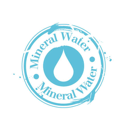 stamp Mineral Water Vector