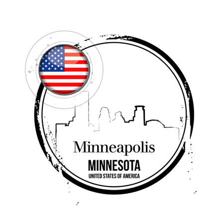 stamp Minneapolis Vector