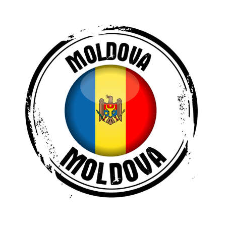 stamp Moldova Vector
