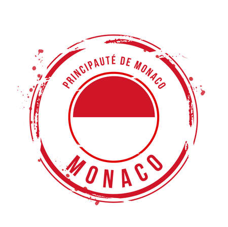 stamp Monaco Stock Vector - 17353177