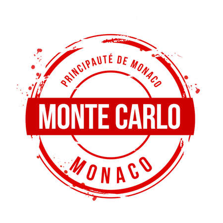 stamp Monte Carlo Stock Vector - 17353180