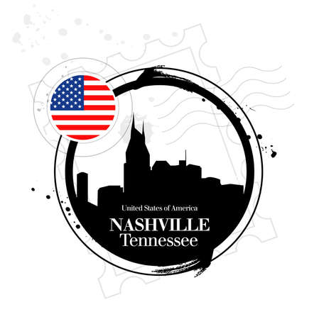 stamp Nashville Stock Vector - 17353186