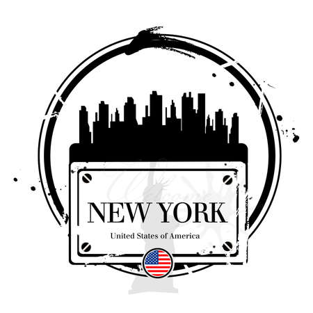 stamp New York Vector