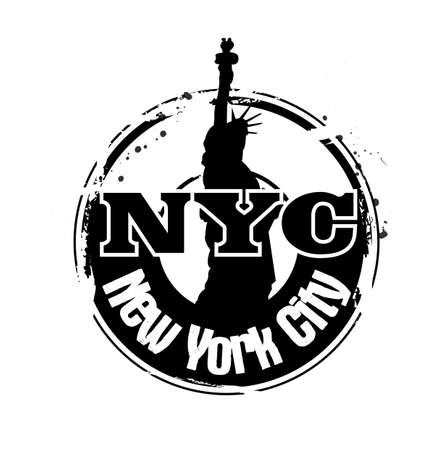 stamp NYC Vector
