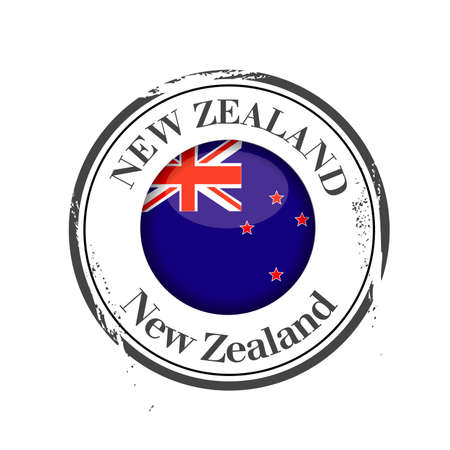 new zealand: stamp New Zealand Illustration