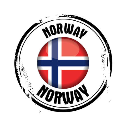 stamp Norway Stock Vector - 17422379