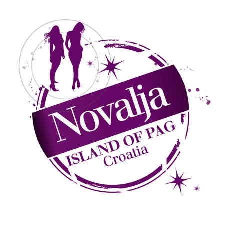 stamp Novalja Stock Vector - 17422378