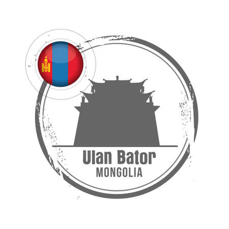 stamp Mongolia Vector