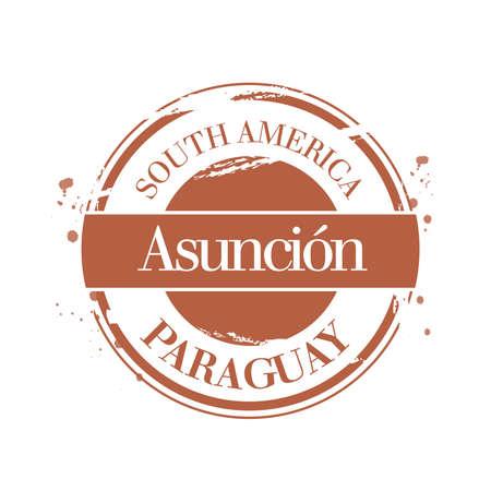 stamp Asuncion Stock Vector - 17424246