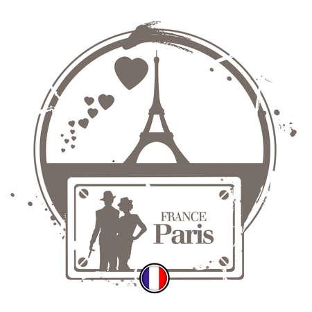 montmartre: stamp Paris