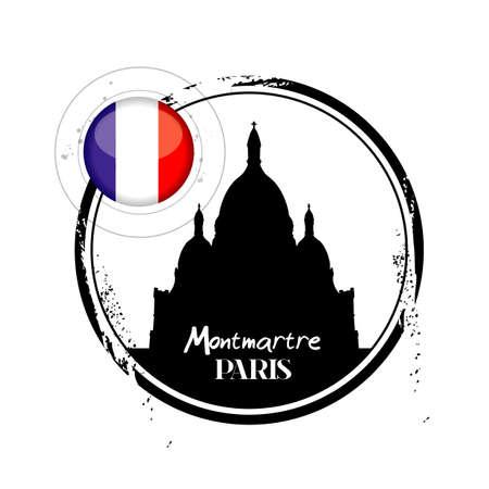 tampon: Stamp Montmartre in Paris