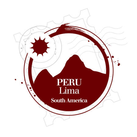 stamp Peru Stock Vector - 17408141