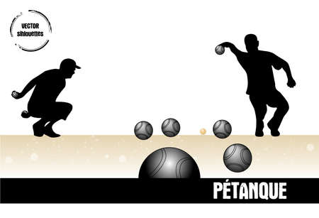 stamp petanque Stock Vector - 17424254