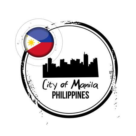 philippines: stamp City of Manilla
