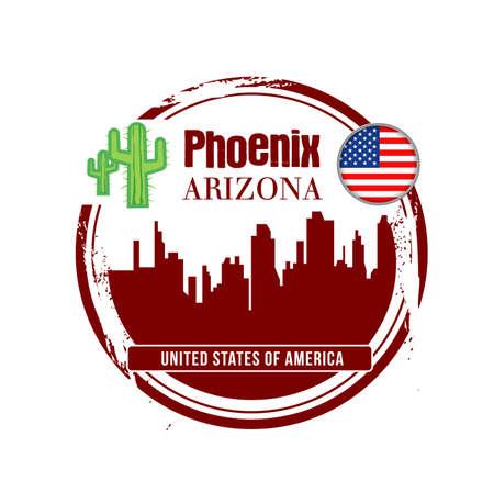 stamp Arizona Stock Vector - 17422375