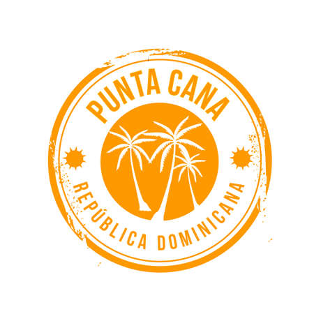 carribean: sello Punta Cana Vectores
