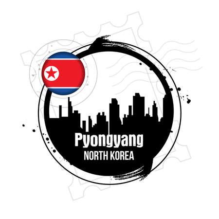 stamp Pyongyang Stock Vector - 17422364