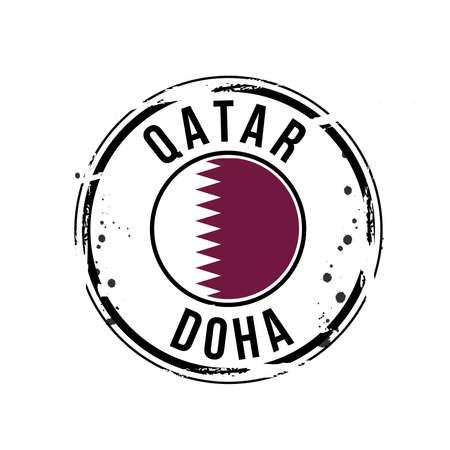 stamp Qatar Stock Vector - 17422348