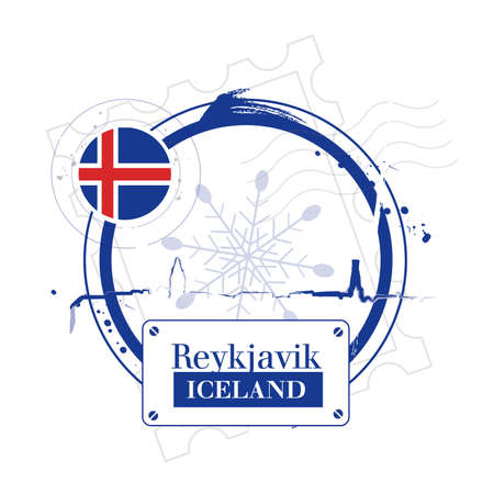 stamp Iceland Stock Vector - 17482992