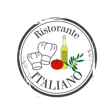 bolognese: stamp Ristorante Italiano