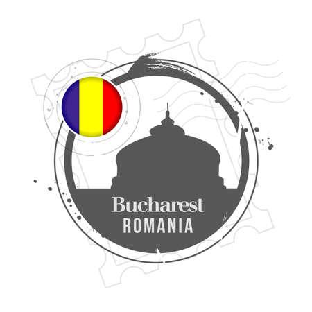 romania: stamp Romania Illustration