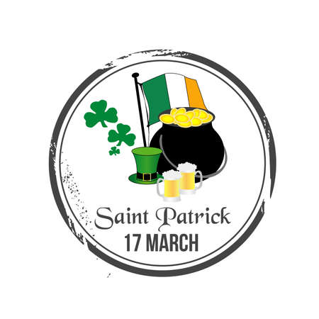 stamp Saint Patrick Vector