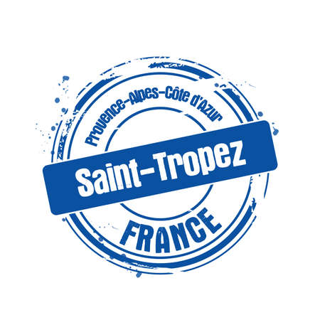 stamp Saint-Tropez Stock Vector - 17482994