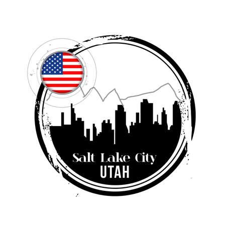 salt lake city: stamp Salt Lake City  Illustration
