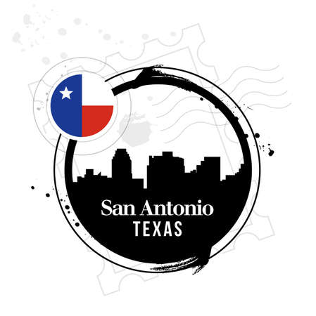 stamp San Antonio Stock Vector - 17482981