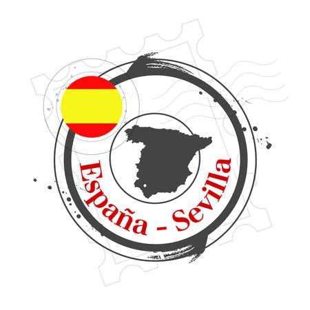 stamp Sevilla Vector