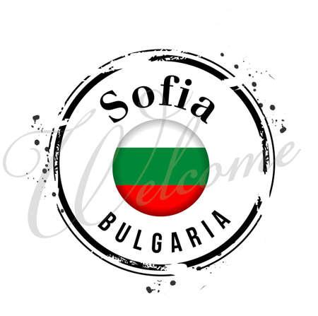 stamp Bulgaria Vector