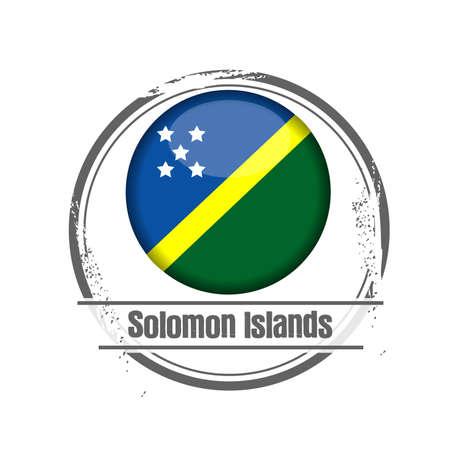 stamp Solomon Islands Stock Vector - 17483004