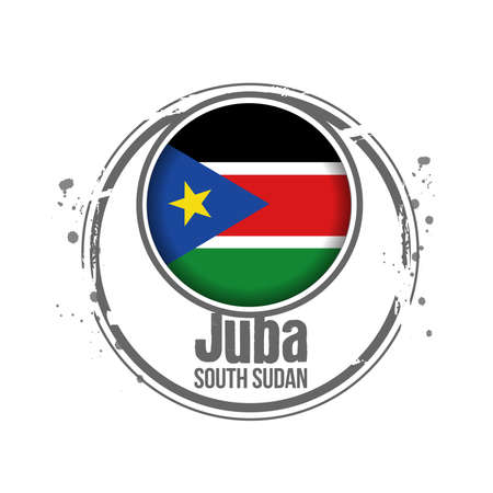 stamp South Sudan Stock Vector - 17483008