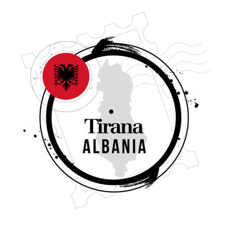 stamp Tirana Stock Vector - 17498351