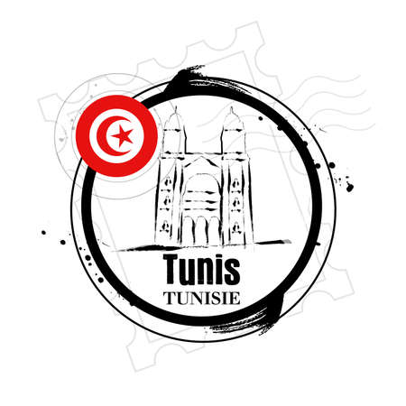 tunisia: stamp Tunisia Illustration