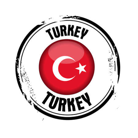 stamp Turkey Vector