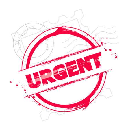 buffer: stamp Urgent Illustration
