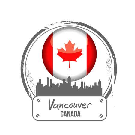 vancouver: stamp Vancouver Illustration