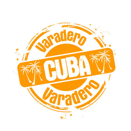 stamp Varadero Stock Vector - 17498416