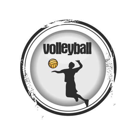 stamp Volleyball Stock Vector - 17498356