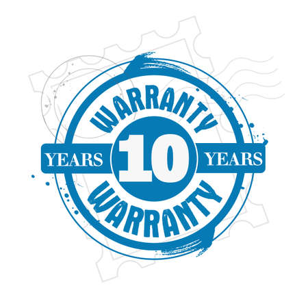 stamp warranty 10 years Stock Vector - 17498477