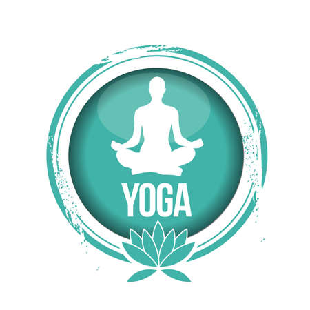 stamp Yoga Illustration
