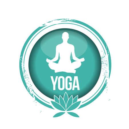 physical fitness: stamp Yoga Illustration