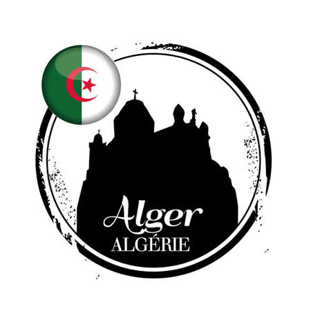stamp Algiers Stock Vector - 17625986