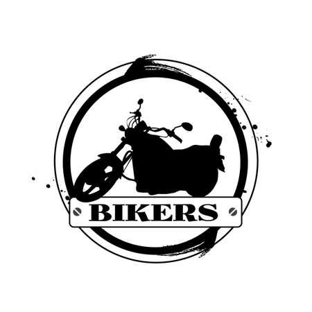 stamp Bikers Stock Vector - 17625989